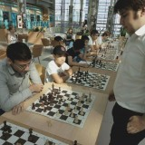 Международный мастер Талгат Губайдулин провел в Астане сеанс одновременной игры