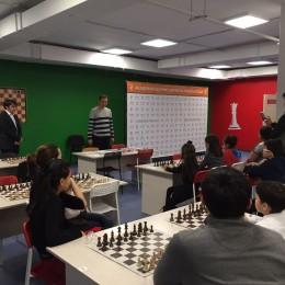 Победителями полуфинала чемпионата города Астаны по шахматам стали (слева направо): Хегай Хантемир (3 место), Джумагулов Рустем (1 место), Жапаркул Азамат (2 место)